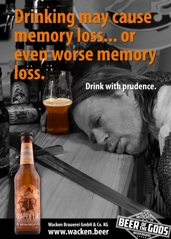 Drinking may cause memory loss...Wacken Brewery Poster
