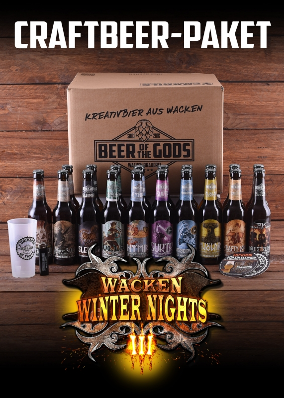 WWN - Göttergabe - Wacken Winter-Nights-Edition - 19 x Beer of the Gods - craft beer set